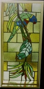 Custom Made Leadlight Windows Of Australian Birds Flowers